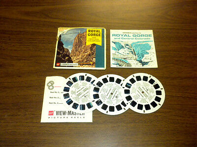 ROYAL GORGE AND CENTRAL COLORADO (A323) Viewmaster 3 reels PACKET SET vintage