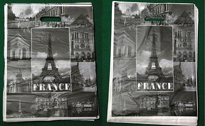 "PARIS Scenic Tour Fashion Poly Retail Shopping Merchandise Bag 12""x15"" 100 pc"