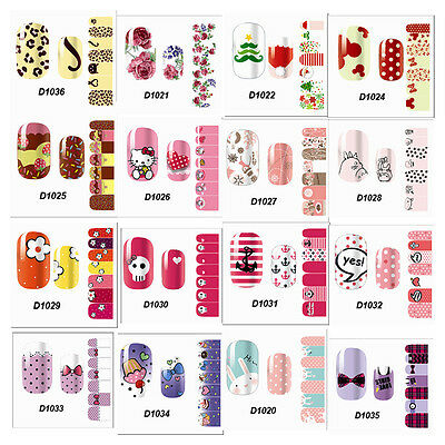 Simple Colorful Cute Nail Art Nail Decals waterproof Stickers Tip Decoration