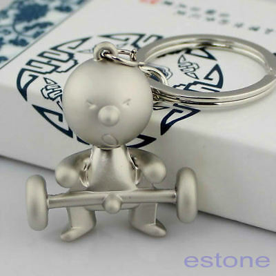 Silver Creative Classic Mr.P Boy Key Ring Fob Keychain Funny Keyring Chain Gifts