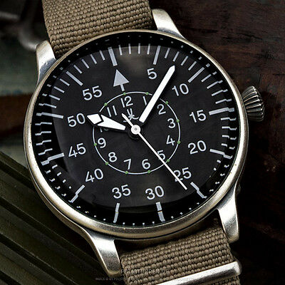US XXL MILITARY AVIATORs Air Force PILOTs watch Airforce B-Uhr Luftwaffe 42mm