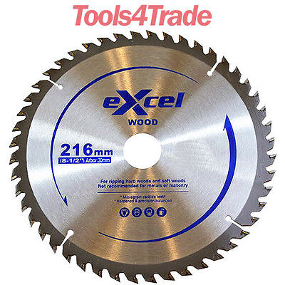 Excel 216mm x 30mm x 60T TCT Circular Saw Blades for Wood