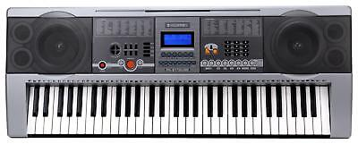 Digital 61 Tasten Keyboard E-Piano Klavier 100 Sounds & Rhythmen USB MP3 Record