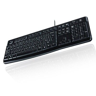 Logitech K120 Keyboard Qwertz Tastatur Deutsch Oem Usb-Kabel Pc Laptop Schwarz