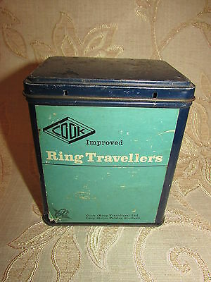 Vintage Collectable Cook Improved Ring Travellers Tin Box