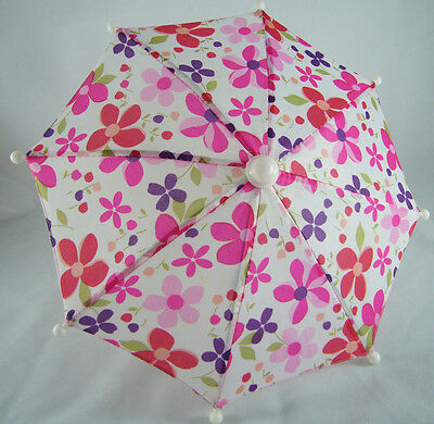"""Floral Umbrella made for 18"""" American Girl Doll Clothes REALLY WORKS!"""