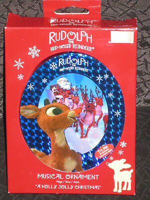 NEW-Rudolph The Red Nosed Reindeer Musical Ornament By Santas Best