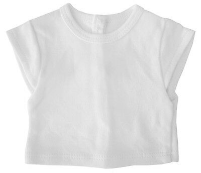 "White Cap Sleeve T-Shirt Tee Top made for 18"" American Girl Doll Clothes"