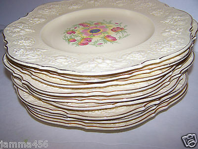Vintage Crown Ducal China Dinnerware Plates England
