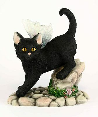 Faerie Glen Faerie Tails *MIDNIGHT* Black Fairy Cat Figurine ~ BNIB CUTE GIFT!