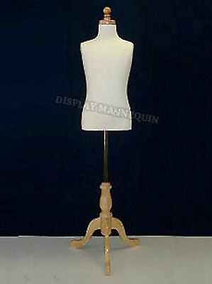 Kids Dress Form Mannequin for  7-8 YR with WOODEN BASE Child Clothing Disply