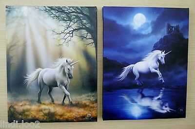 Anne Stokes Canvas Wall Plaque -  Unicorn - Choice Of Designs