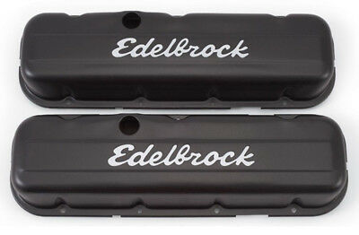 Edelbrock 4483 Signature Series Black Valve Covers Chevrolet 396-454 V8