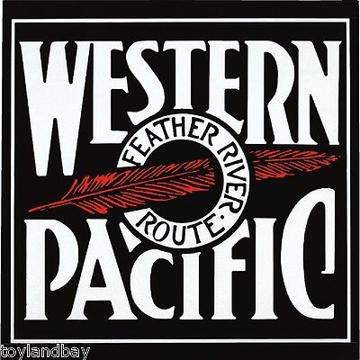Vintage Old Style Sign Magnet Western Pacific Railroad Porcelain Old Style Logo