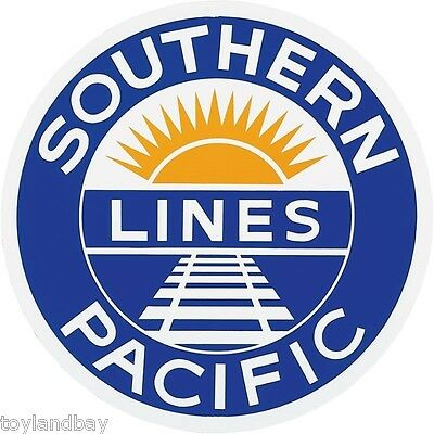 Vintage Old Style Sign Magnet Southern Pacific Railroad Porcelain Old Style Logo