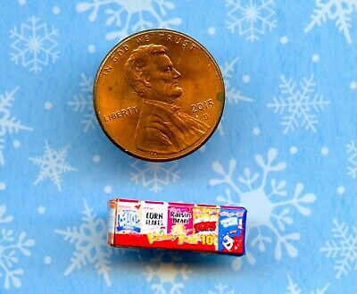 SMALLER  1/2 Half Inch Scale  Dollhouse Miniature  Variety Cereals Box
