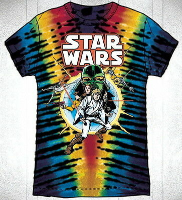 Classic Star Wars Marvel Comic Book Cover #1 Tie-Dye T-Shirt X-LARGE, NEW UNWORN