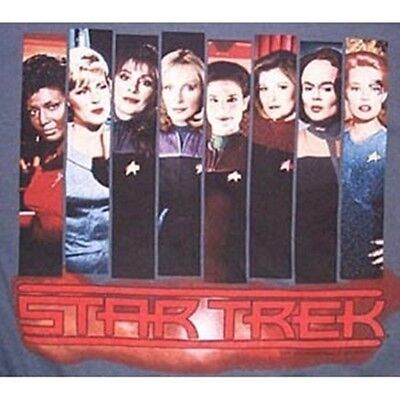 Star Trek Women, Then and Now, Photo Panel Images 1st 4 Series T-Shirt XL NEW
