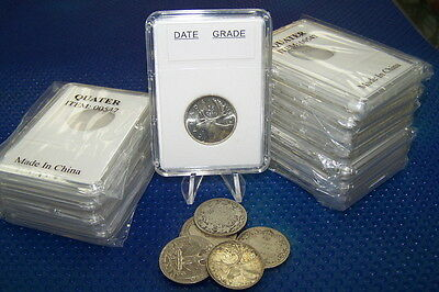 10 Coin Holders Slab Style * for CAD/Nfdl 25 Cents --- 24 mm**