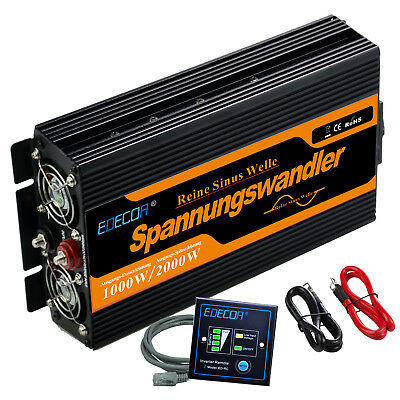 1000W 2000 watt DC 12V - AC 230V 240V Pure Sine Wave Power Inverter soft start