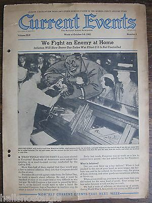"October 5-9, 1942 ""Current Events"", The National School Newspaper, 8 pages"