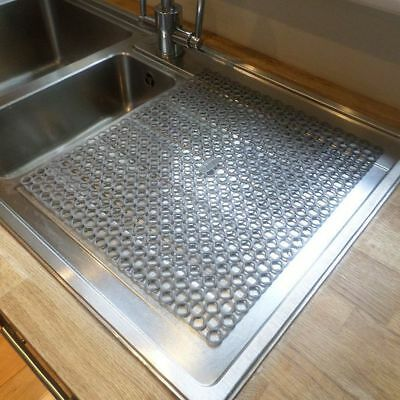 Sink or Kitchen Worktop Washing Up Glasses Cup Mug Drainer Draining Mat