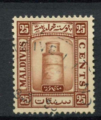 Maldive Islands 1933 SG#18A 25c Brown Used #A78129