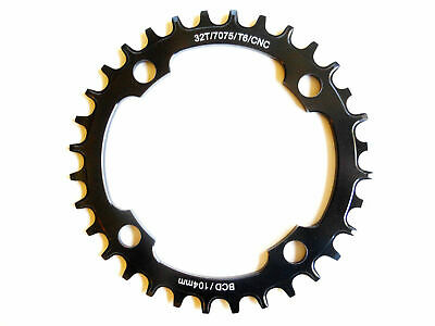 Chainring Single MTB 104BCD x 32T 7075T6 CNC Wide Narrow 9,10,11 Speed Shun