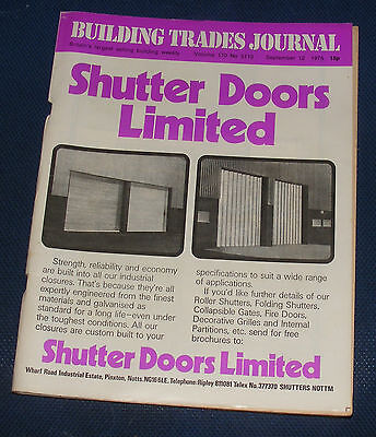 Building Trades Journal September 12Th 1975