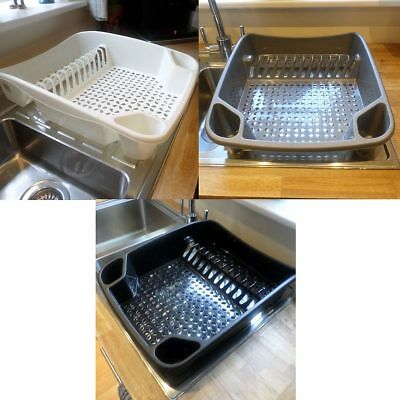 Large Plastic Kitchen Sink Washing Up Plate Cutlery Draining Drainer Rack
