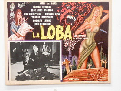 """La LOBA Wolf In The Black Forest Lobby Card Poster Movie Horror """"She Wolf """"1965"""