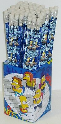60 x Bart  Simpsons Bleistift mit Radiergummi in Metall-Box