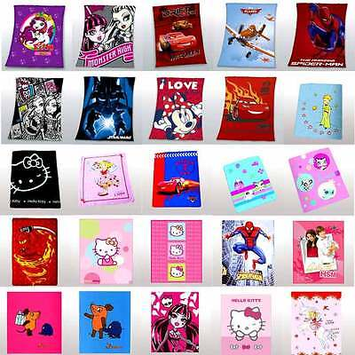FLEECE BLANKET - VARIOUS LICENSES - FREE SELECTION for BED LINENS NEW/OB
