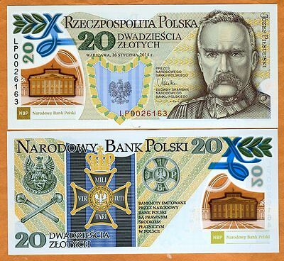 Poland, 20 Zlotych, 2014, P-New, Polymer UNC   Commemorative with a folder