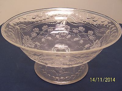 Antique Pairpoint Intaglio Centerpiece Bowl Elegant Cut Blown Up-To-Date Styling Antiques Glass