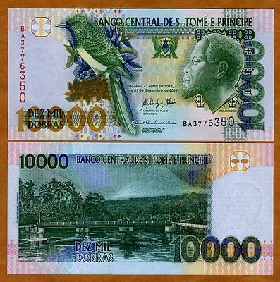 St Thomas & Prince, 10000 (10,000) Dobras, 2013, P-66-New date and sig. UNC