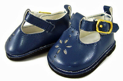 "NAVY Blue T-STRAP SHOES made for 18"" American Girl Doll Clothes"