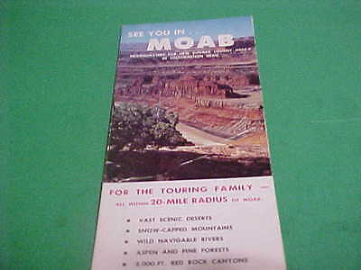 1960 THINGS TO DO AND SEE IN MOAB UTAH SOUVENIR BOOKLET