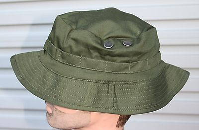 BUSH HAT ARMY OLIVE GREEN  ADULTS - SIZES XL 60-62cm