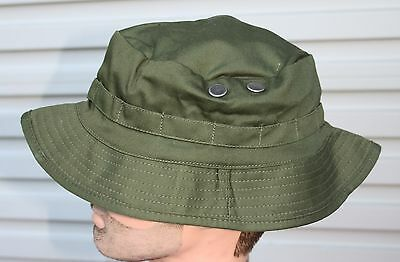 BUSH HAT OLIVE GREEN  ADULTS - SIZES L 58-60cm