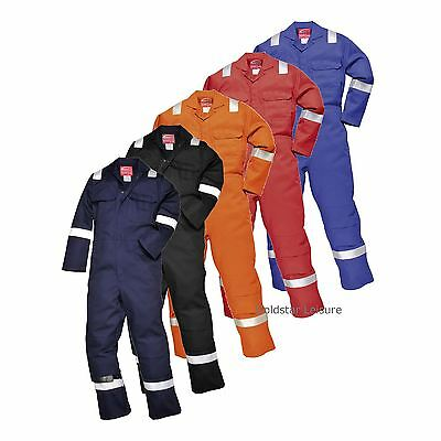 Portwest Iona Flame Resistant Knee Pad Pockets Boilersuit Welding S - 5XL BIZ5