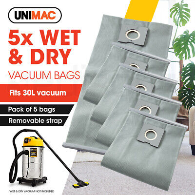 UNIMAC 30L Wet & Dry Vacuum Cleaner- 5x Paper Filter bags Dust Replacement