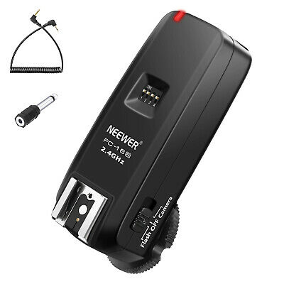 Neewer FC-16 Multi-Channel 3-IN-1 Wireless Hot Shoe Flash Receiver for Canon