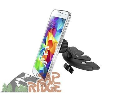 Secure Magnetic Car Stereo CD Slot Cell Phone Mount Holder for HTC Desire 612