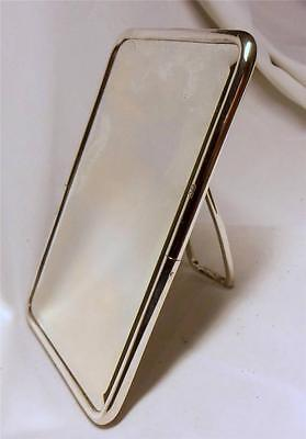 SUPERB STERLING SILVER DRESSING MIRROR~FAMILY CREST & INITIALS~LON 1908~462 gr