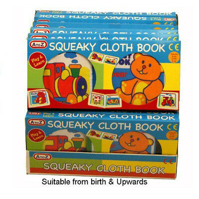 A to Z Baby My First Squeaky Cloth Book Animals Play and Learn