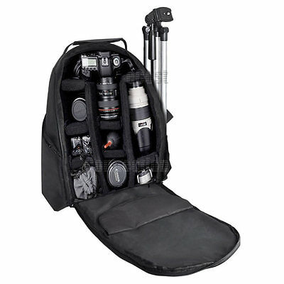 Digital Camera/Video Padded Backpack  f/ Canon 5D Mark III Rebel &More Camcorder