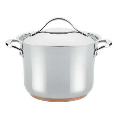 Anolon Nouvelle Stainless Steel 6.5-Quart Covered Stockpot - 77275