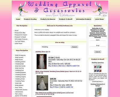 Wedding Anniversary Jewelry Affiliate Business Website For Sale