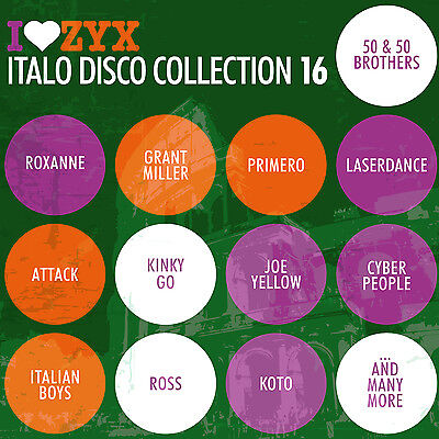 CD ZYX ITALO DISCO COLLECTION 16 by Various Artists 3 CDs